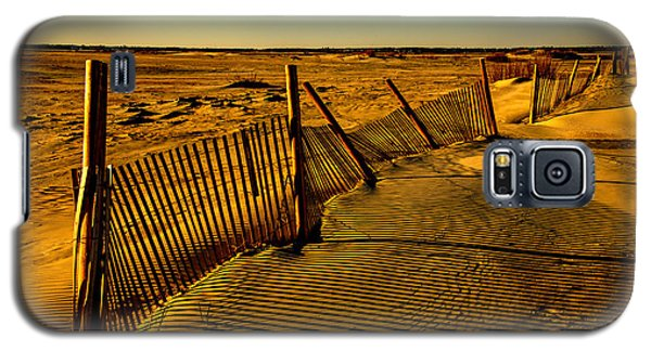 Galaxy S5 Case featuring the photograph Sand Fences At Lands End II by John Harding