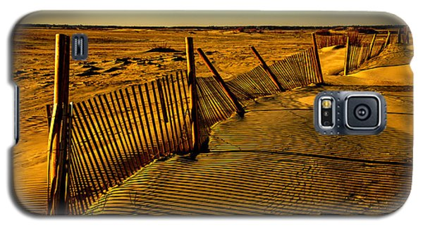 Sand Fences At Lands End II Galaxy S5 Case by John Harding