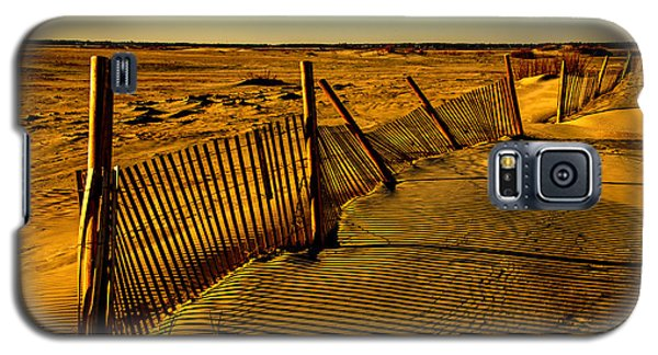Sand Fences At Lands End II Galaxy S5 Case