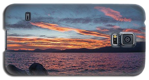 Sand Harbor Sunset Pano2 Galaxy S5 Case