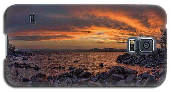 Sand Harbor Sunset Panorama Galaxy S5 Case