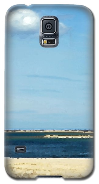 Galaxy S5 Case featuring the photograph Sand Sea And Sky by Brooke T Ryan