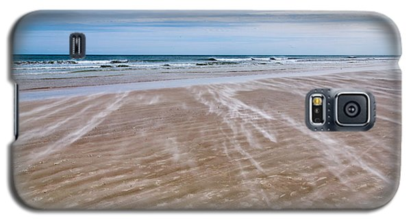 Galaxy S5 Case featuring the photograph Sand Swirls On The Beach by John M Bailey