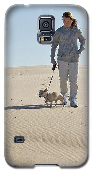 Galaxy S5 Case featuring the photograph Sand Walk by Tara Lynn