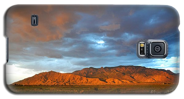 Sandia Mountains Colorful Sunset Galaxy S5 Case by Andrea Hazel Ihlefeld