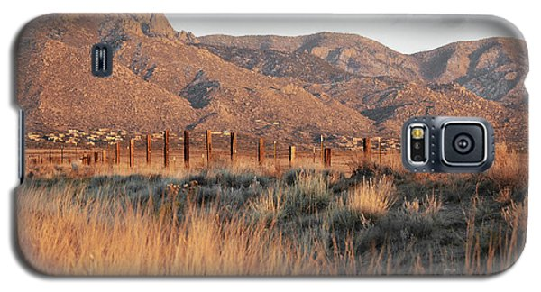 Sandia Mountains Rustic Fence Countryside Galaxy S5 Case by Andrea Hazel Ihlefeld