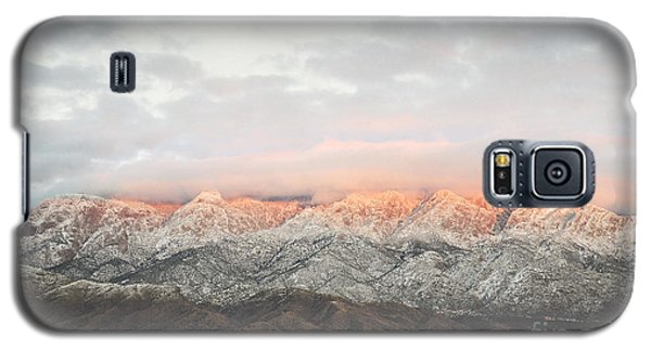 Sandia Mountains Rustic Sunset Landscape Galaxy S5 Case by Andrea Hazel Ihlefeld