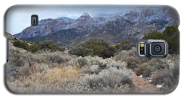 Sandia Mountains Storm Winter Landscape Galaxy S5 Case by Andrea Hazel Ihlefeld