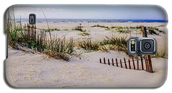 Sand  Fences On The Bogue Banks 2 Galaxy S5 Case