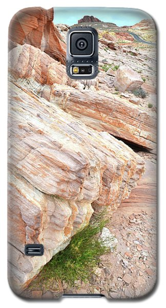 Galaxy S5 Case featuring the photograph Sandstone Along Park Road In Valley Of Fire by Ray Mathis