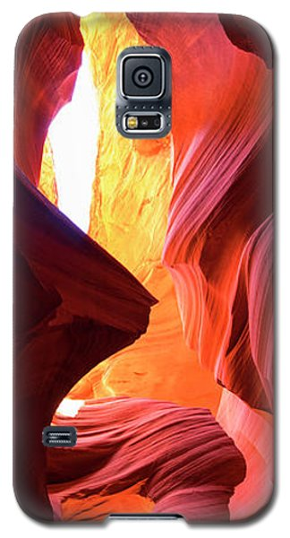 Galaxy S5 Case featuring the photograph  Sandstone Collection 1 Ablaze by Brad Scott