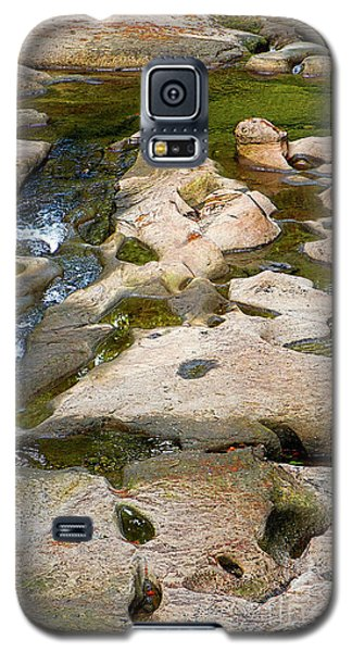 Galaxy S5 Case featuring the photograph Sandstone Creek Bed by Sharon Talson
