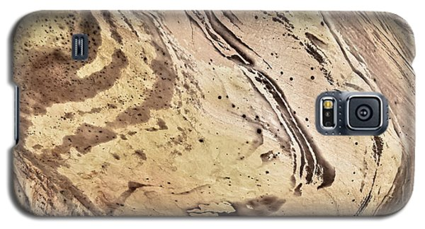 Galaxy S5 Case featuring the photograph Sandstone Swirls by Tom Vaughan