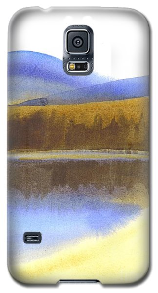 Galaxy S5 Case featuring the painting Sandy Blue Dusky Mountain Lake by Kip DeVore