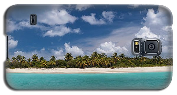 Galaxy S5 Case featuring the photograph Sandy Cay Beach British Virgin Islands Panoramic by Adam Romanowicz