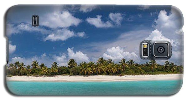 Galaxy S5 Case featuring the photograph Sandy Cay Beach British Virgin Islands Panoramic by Adam Romanowicz