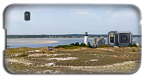 Sandy Neck Lighthouse With Fishing Boat Galaxy S5 Case