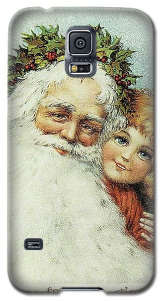 Santa And His Little Admirer Galaxy S5 Case