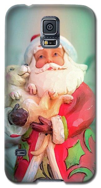 Santa And Lab Pup Galaxy S5 Case