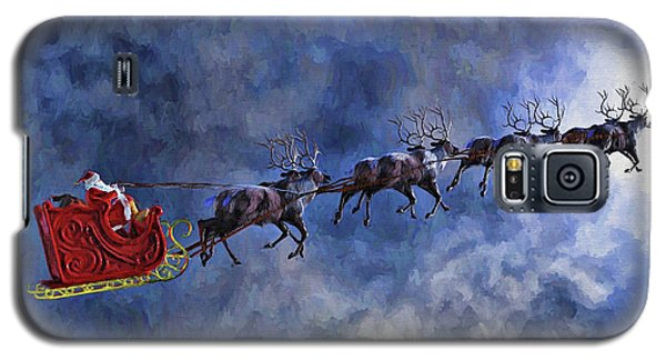 Santa And Reindeer Galaxy S5 Case by Dave Luebbert