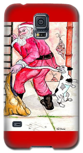 Santa Climbs The Ladder Galaxy S5 Case