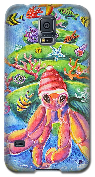 Santa Crab Galaxy S5 Case by Li Newton