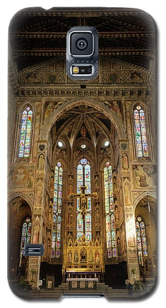 Galaxy S5 Case featuring the photograph Santa Croce Florence Italy by Joan Carroll