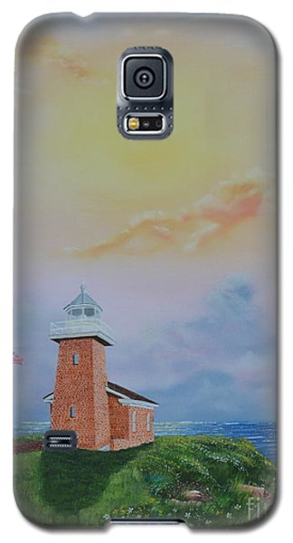 Galaxy S5 Case featuring the painting Santa Cruz Sunset by Mary Scott
