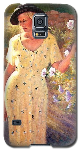 Galaxy S5 Case featuring the painting Santa Fe Garden 3   by Donelli  DiMaria