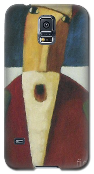 Galaxy S5 Case featuring the painting Santa by Glenn Quist