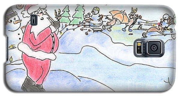Santa Golf Galaxy S5 Case by Vonda Lawson-Rosa