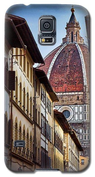 Santa Maria Del Fiore From Via Dei Servi Street In Florence, Italy Galaxy S5 Case