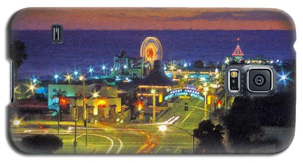 Galaxy S5 Case featuring the photograph Santa Monica Ca  Pacific Park Pier by David Zanzinger
