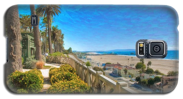 Santa Monica Ca Palisades Park Bluffs Gold Coast Luxury Houses Galaxy S5 Case by David Zanzinger