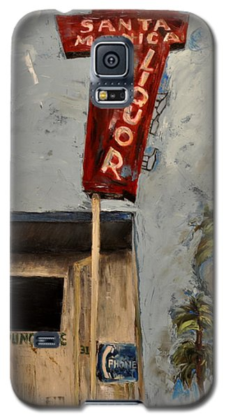 Galaxy S5 Case featuring the painting Santa Monica Liquor by Lindsay Frost
