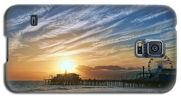 Santa Monica Pier Galaxy S5 Case by Eddie Yerkish