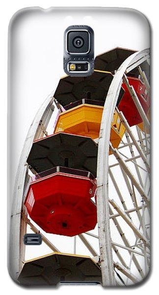 Santa Monica Pier Ferris Wheel- By Linda Woods Galaxy S5 Case by Linda Woods