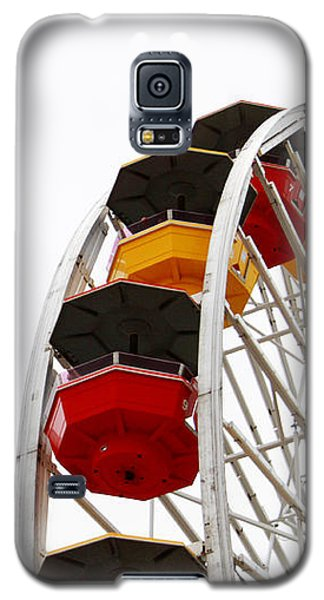 Santa Monica Pier Ferris Wheel- By Linda Woods Galaxy S5 Case by Linda Woods