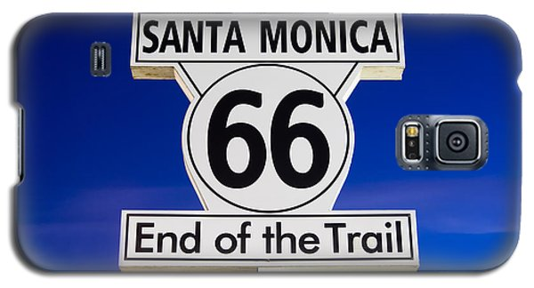 Santa Monica Route 66 Sign Galaxy S5 Case by Paul Velgos