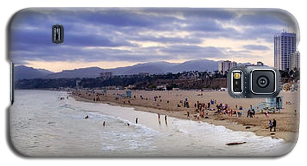 Santa Monica Sunset Panorama Galaxy S5 Case