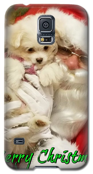 Galaxy S5 Case featuring the painting Santa Paws  by Darren Robinson