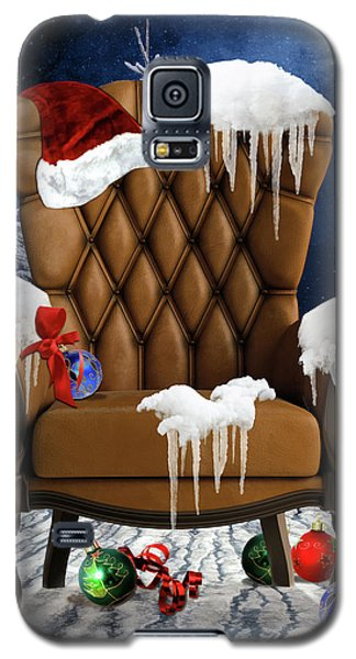 Santa's Chair Galaxy S5 Case by Mihaela Pater