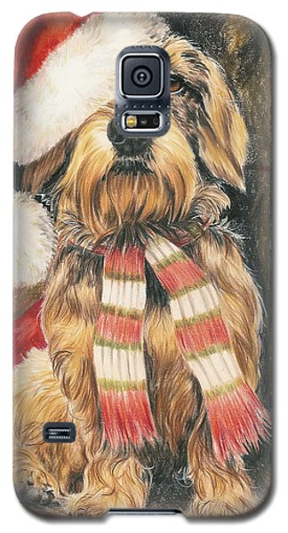 Galaxy S5 Case featuring the drawing Santas Little Yelper by Barbara Keith