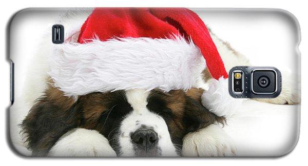 Santa's Snoozing Saint Bernard Galaxy S5 Case