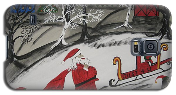 Galaxy S5 Case featuring the painting Santa's Work Is Done  by Jeffrey Koss