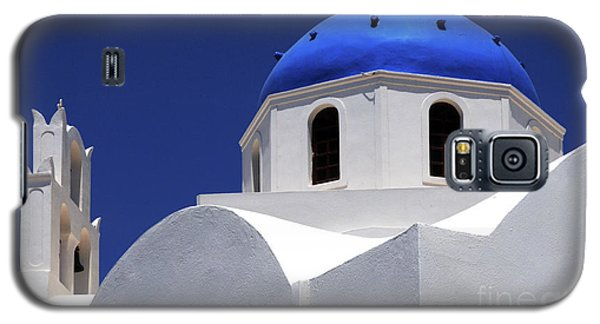 Galaxy S5 Case featuring the photograph Santorini Greece Architectual Line 2 by Bob Christopher