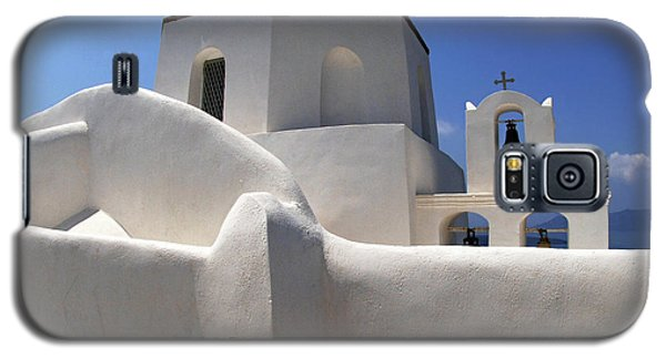 Galaxy S5 Case featuring the photograph Santorini Greece Architectual Line 4 by Bob Christopher