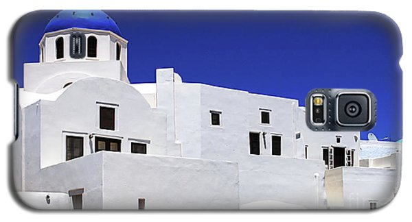 Galaxy S5 Case featuring the photograph Santorini Greece Architectual Line 6 by Bob Christopher