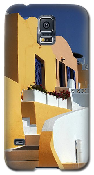 Galaxy S5 Case featuring the photograph Santorini Greece Architectual Line by Bob Christopher
