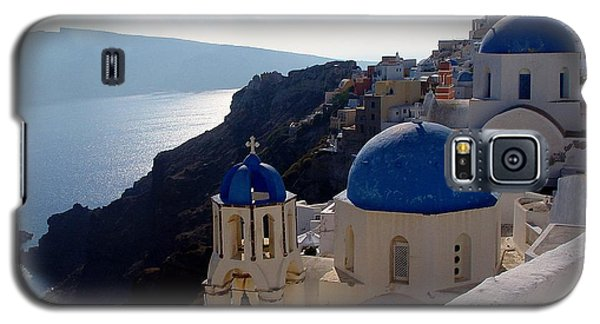 Galaxy S5 Case featuring the photograph Santorini Greece by Nancy Bradley
